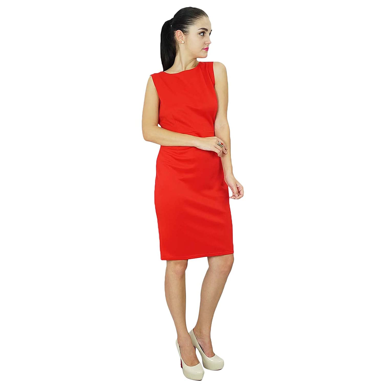 601dd5f05af1 Bimba Womens Classic Slim Fit Bodycon Sleeveless Formal Midi Dress at  Amazon Women's Clothing store: