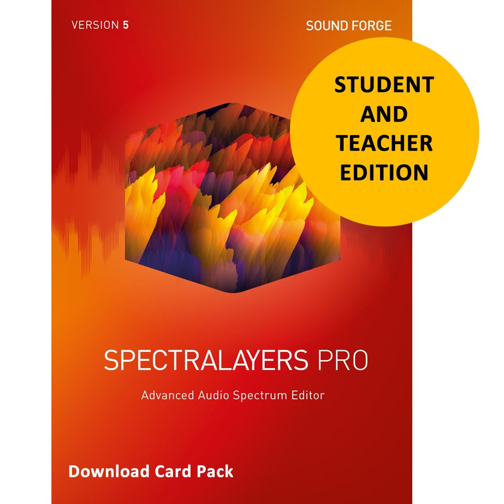 Magix SpectraLayers Pro 5 for Students & Teachers [Download Card]