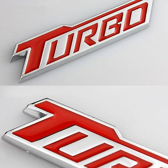 Dsycar 1 Paar 3d Metall Turbo Logo Auto Abzeichen Emblem Aufkleber 4 Stücke Rändelte Stil Mit Kunststoffkern Ventilkappen Für Universal Car Styling Dekorative Zubehör Auto
