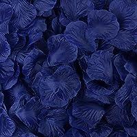 Haobase 1000pcs Rose Petals Wedding Flower Decoration (Dark Blue)