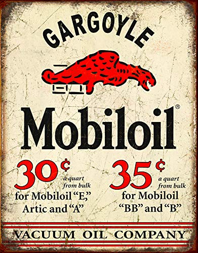 Desperate Enterprises Mobil Gargoyle Tin Sign, 12.5