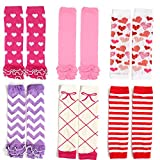 Elesa Miracle 6-pack Baby & Toddler Cozy Soft Leg Warmers, Kneepads Value Set (Girl Set)