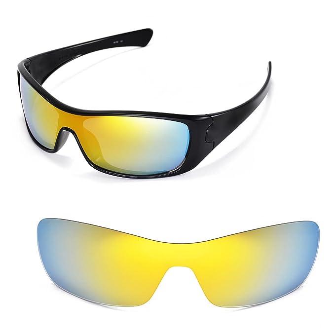 1e2248efcc3d2 Amazon.com  Walleva Replacement Lenses for Oakley Antix Sunglasses -  Multiple Options Available (24K Gold Mirror Coated - Polarized)  Shoes