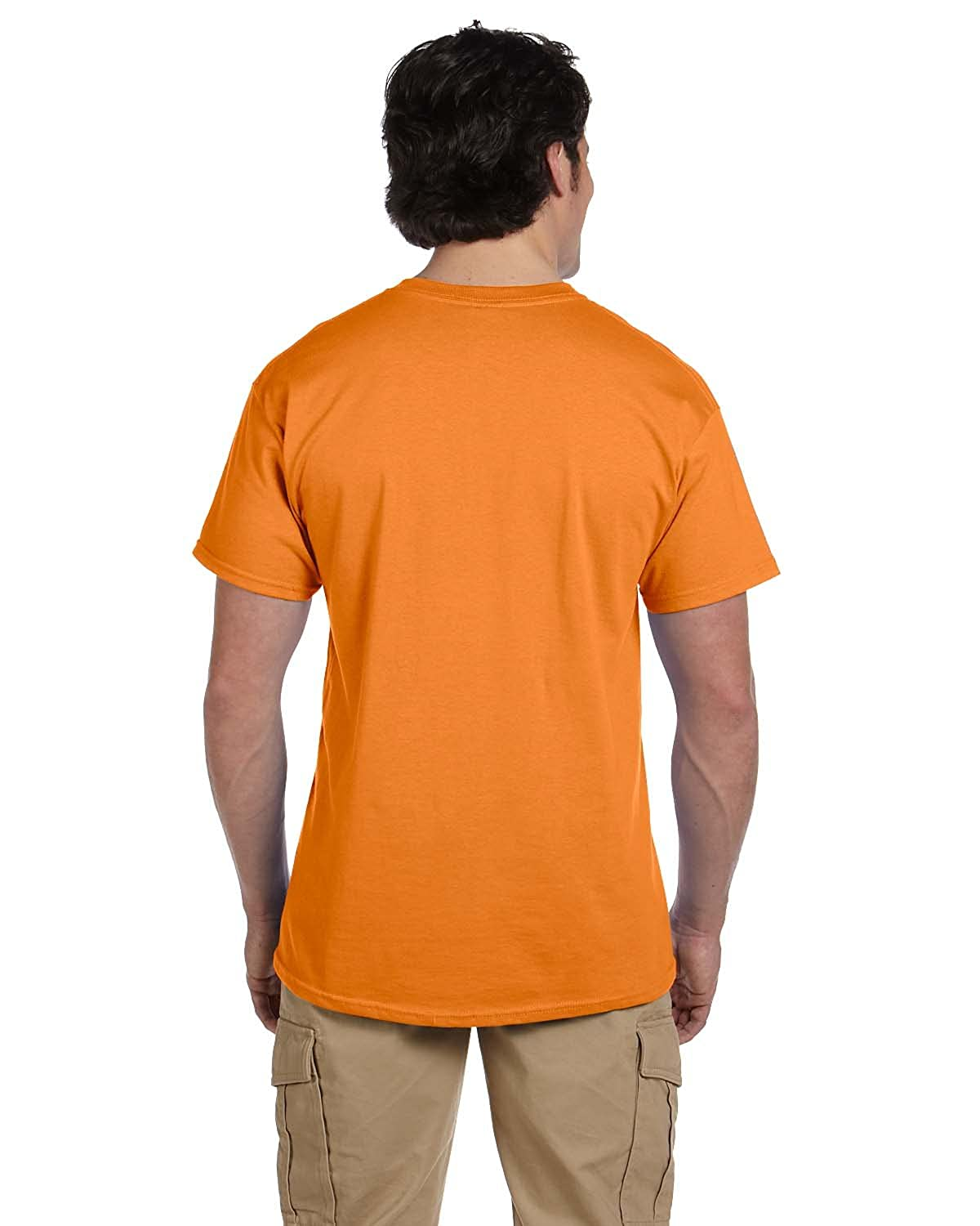 Gildan Mens Seamless Double Needle T-Shirt Tangerine