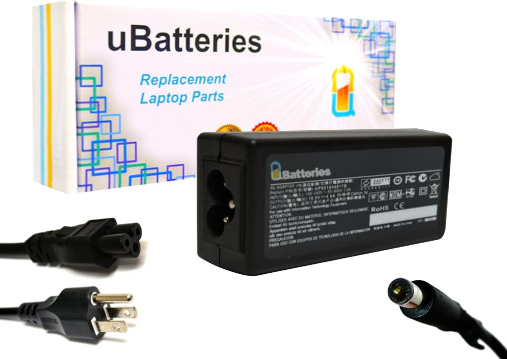 UBatteries Compatible 18.5V 4.9A 90W AC Adapter Charger Replacement for HP 693713-001 644240-001 463554-004 609947-001 613160-001 773553-001 418873-001 418875-001 609940-001 614023-001 620656-001
