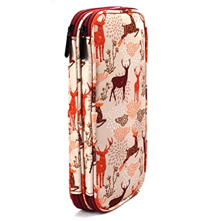 Amazon.com: Katech Estuche de agujas de tejer con cremallera ...