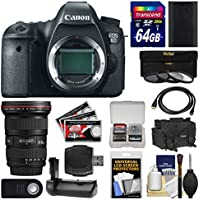 Canon EOS 6D Digital SLR Camera Body with 16-35mm f/2.8 L II USM Lens + 64GB Card + Case + Battery + Grip + Filters Kit Benefits Review Image