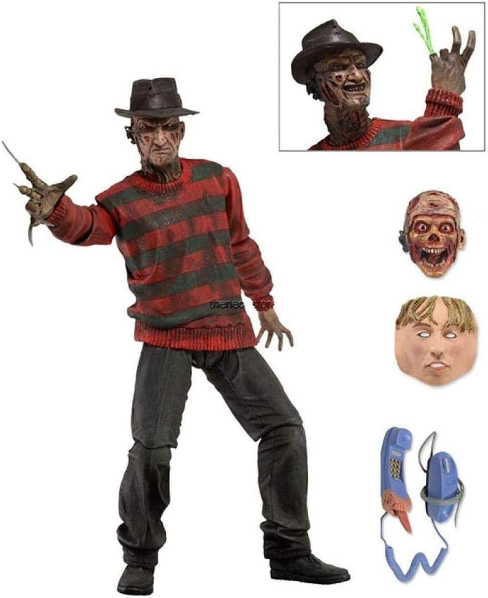 No Marioneta móvil articulada Modelo articulado Asesino Freddy 7 Pulgadas Estatua Adorno en Caja Altura 15 cm