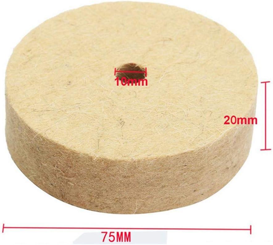 Ruota di lucidatura in feltro da 3//4 rotonda per lucidare e lucidare a disco in feltro morbido