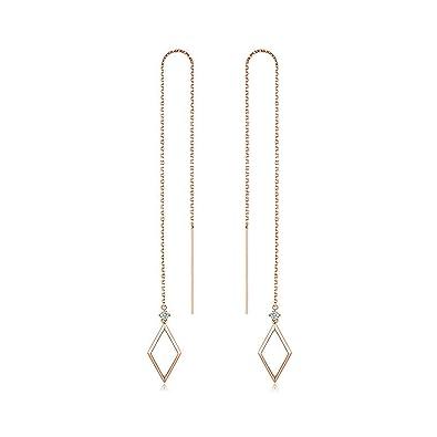 magasin en ligne 0ce74 58432 Gnzoe Argent 800/1000 Femme Diamant Boucles d'Oreilles ...