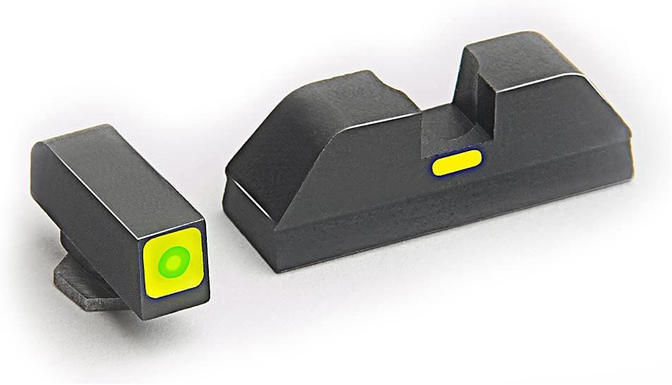 AmeriGlo Combative Application Pistol Sight fits Glock 20,21,29,30,31,32,36, Green/Green