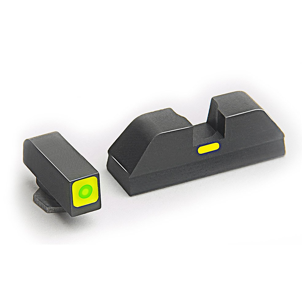 AmeriGlo Combative Application Pistol Sight fits Glock 20,21,29,30,31,32,36, Green/Green by AmeriGlo