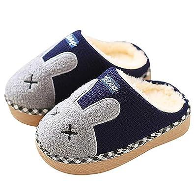 maggiore sconto di vendita lusso rivenditore online Pantofole Bambine Bambini Morbide Scarpe di Cotone con Coniglio Antiscivolo  e Calde Pelliccia Interno Ciabatte Invernali per Felice Natale