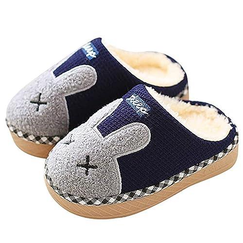 Pantofole Bambine Bambini Morbide Scarpe di Cotone con Coniglio Antiscivolo e  Calde Pelliccia Interno Ciabatte Invernali e9f0ec5281d