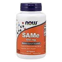 NOW Supplements, SAMe (S-Adenosyl-L-Methionine) 400 mg, Nervous System Support*,...