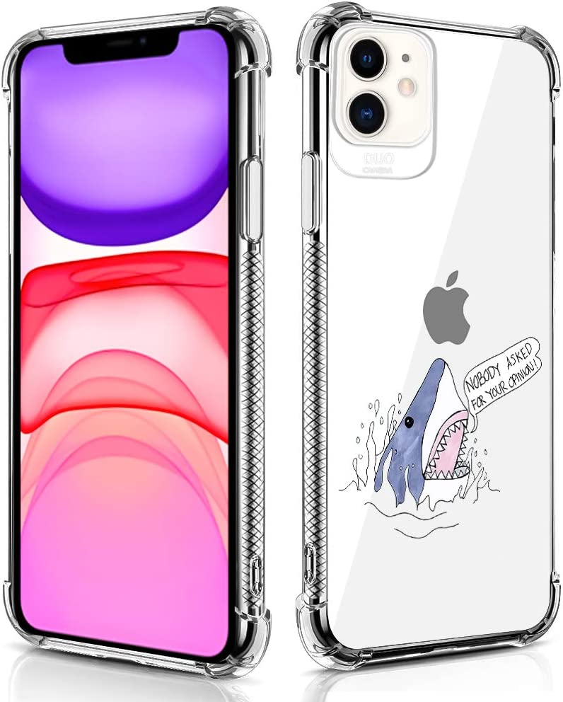 Case Compatible for iPhone 11 Case Shark Open Mouse Pattern Design Soft TPU Bumper Shockproof Clear Cover Phone Case for iPhone 11 Case 6.1 Inch (2019)