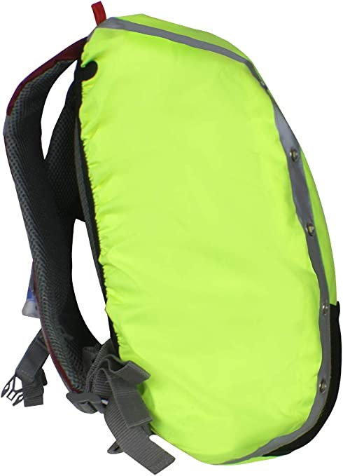 QTER Backpack Waterproof Cover Reflective Backpack Rain Cover 10-70L High Visibility Backpack Cover Dustproof Anti-Theft for Hiking Camping Bicycling Traveling Outdoor Activities-L 41-55L