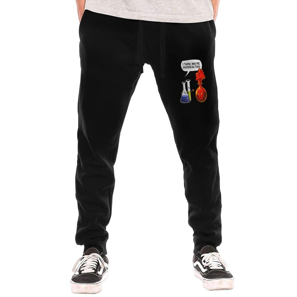 Sunshine Shop Youre Overreacting Mens Elastic Personality Pattern Casual Trousers