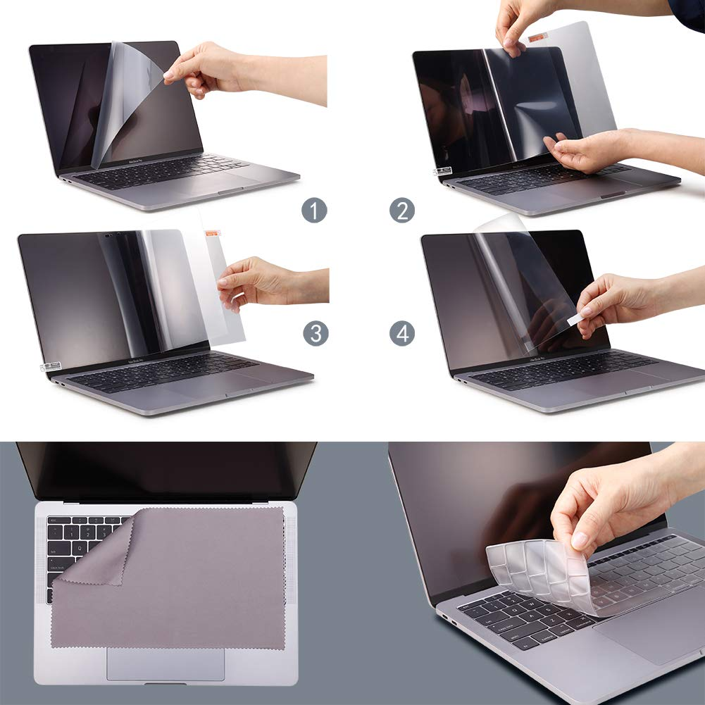 MacBook Pro 13.3 Privacy Screen Protector Filter【Magnetic Installation】【Webcam Cover】【 Anti-Glare Screen Protector 】【TPU Keyboard Cover】 for New 2018 MacBook Air 13 (A1932), MacBook Pro 13 (A1706/08) by FILMEXT (Image #7)
