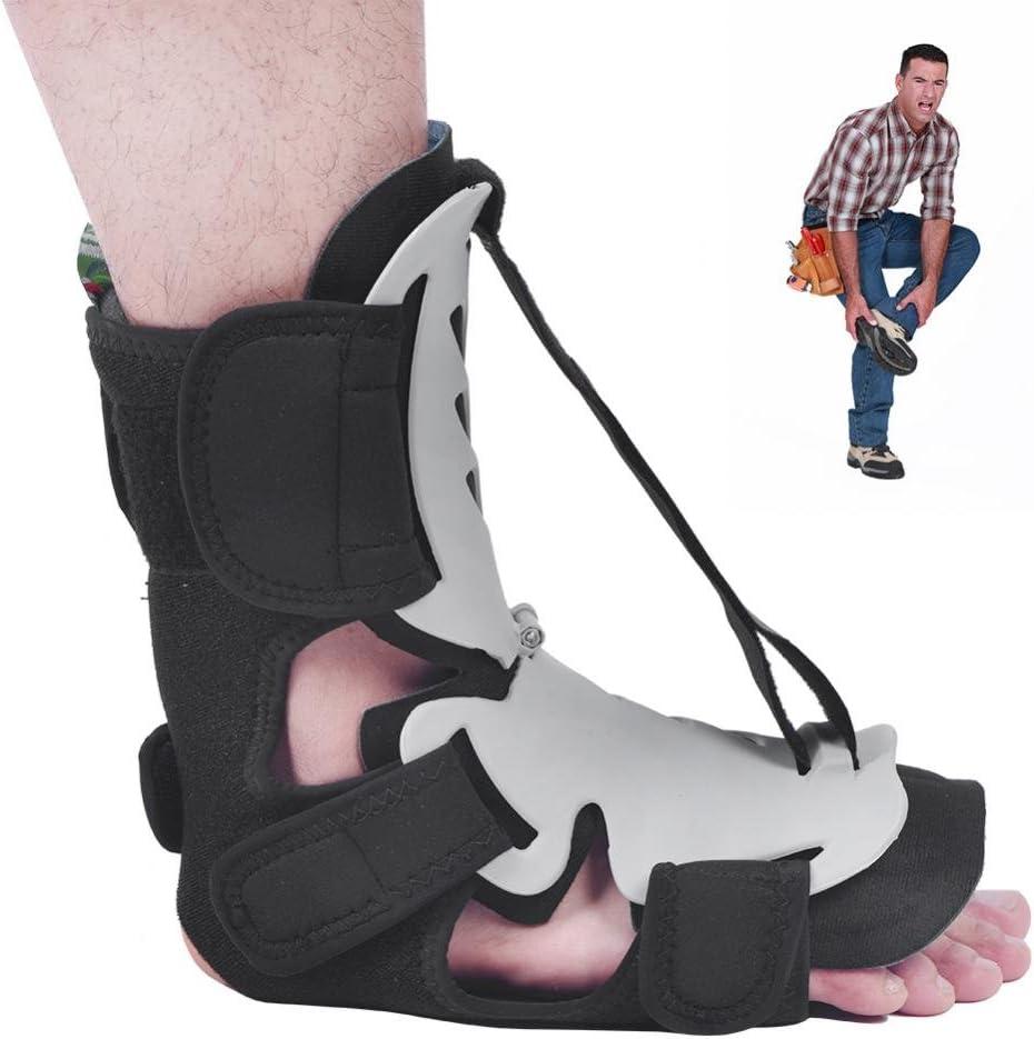 Semme Férula nocturna, soporte para el tobillo Órtesis para la caída del pie ajustable Corrector de la postura del tobillo Corrección ortopédica Corrección de la fascitis plantar