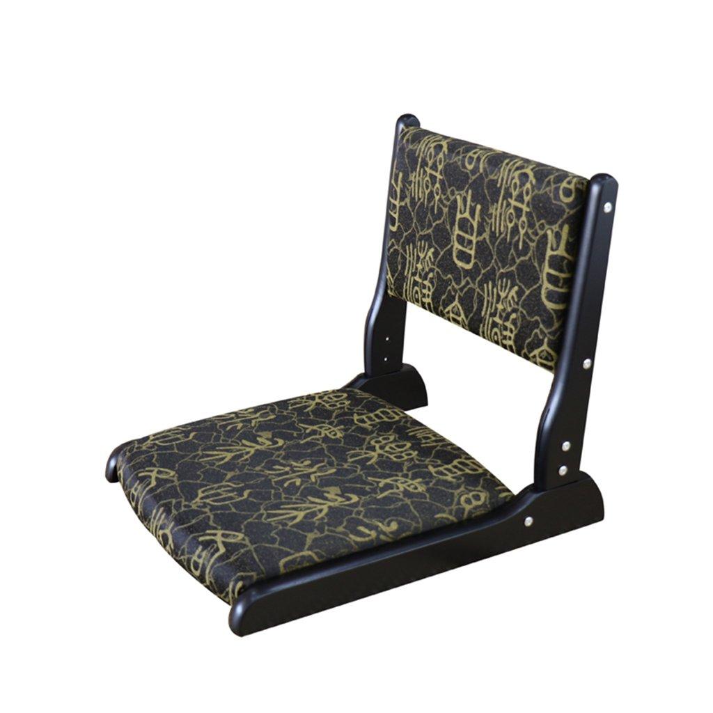 Bodenstuhl Seminar-Meditations-Boden-Stuhl mit Hinterer Unterstützung, Faltende Kühle Japan-Stühle Für Erwachsenen, Laden 250kg