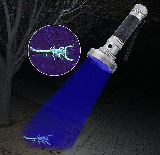 Tomorrow Sun Shine - Pets Luz Negra Linterna UV, UV Luces 100 LED Ultravioleta Negra Detector De Orina De Pet para Perro/Gato Orina, Manchas Secas, ...