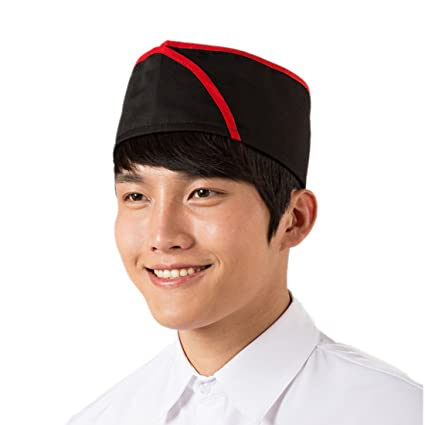 6d78d6ddad0ae Image Unavailable. Image not available for. Color: ChefsUniforms Sushi  Japanese Working Restaurant Black Chef hat Cook Cap for Men and Women Waiter