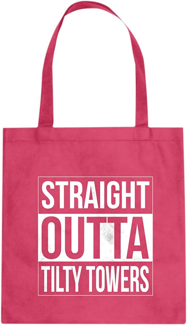 Straight Outta Tilty Towers Cotton Canvas Tote Bag
