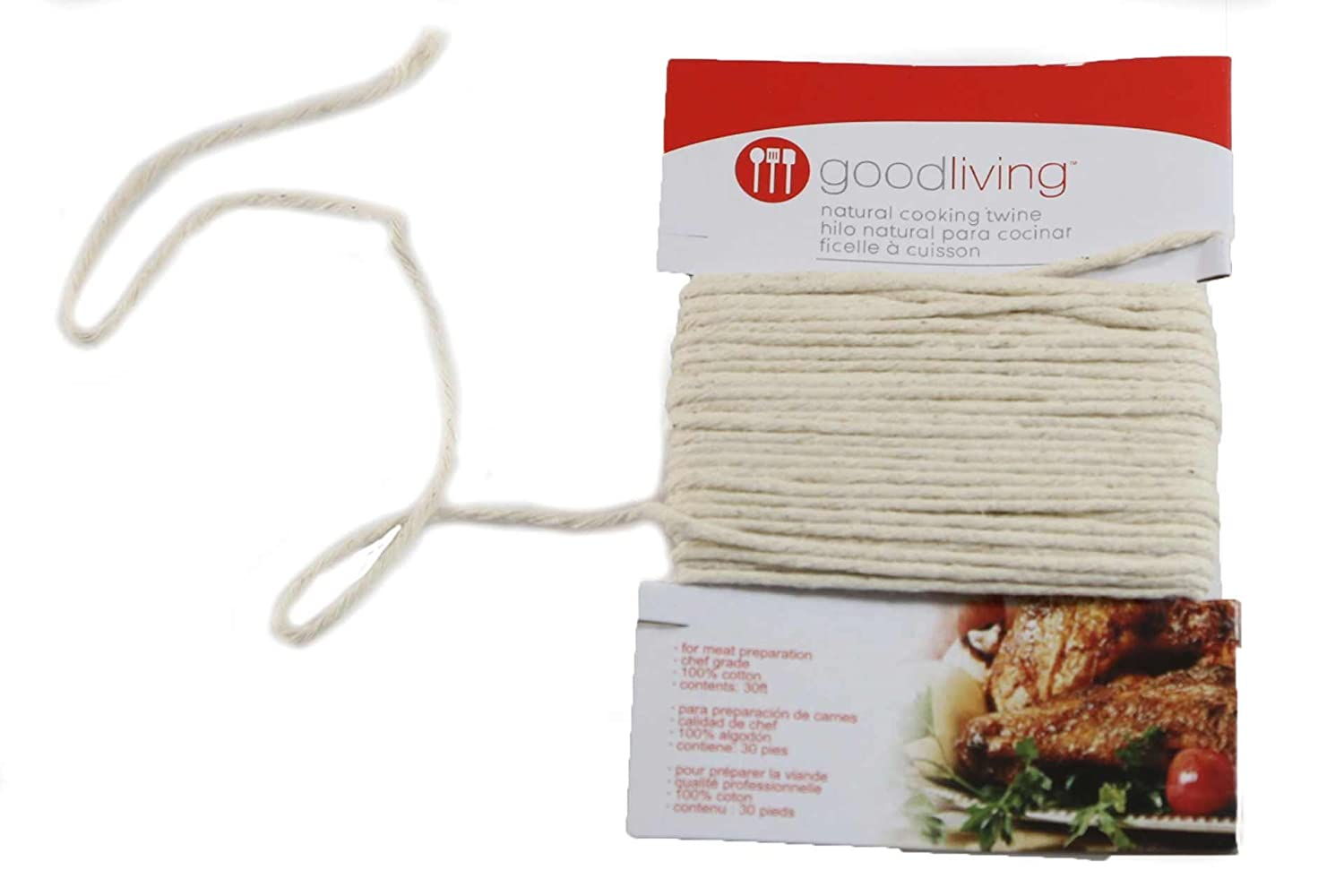Good Living 100% Natural Cotton Oven-Safe Cooking Twine, 3-pack