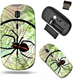 Liili Wireless Mouse Travel 2.4G Wireless Mice with USB Receiver, Click with 1000 DPI for notebook, pc, laptop, computer, mac book IMAGE ID: 36823754 Phantasy image Crusader spider in his cobweb in ci