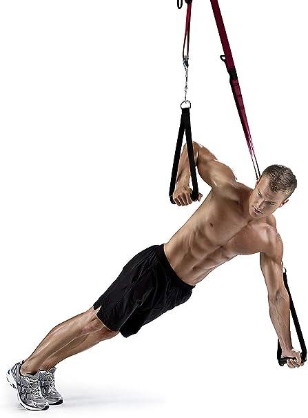 RIP 60 Entrenamiento en Suspensión Trainer Bodyweight Fitness Resistance Straps Trainer Ejercicio 12 DVD, póster de Ejercicios, Tabla de Ejercicios y ...