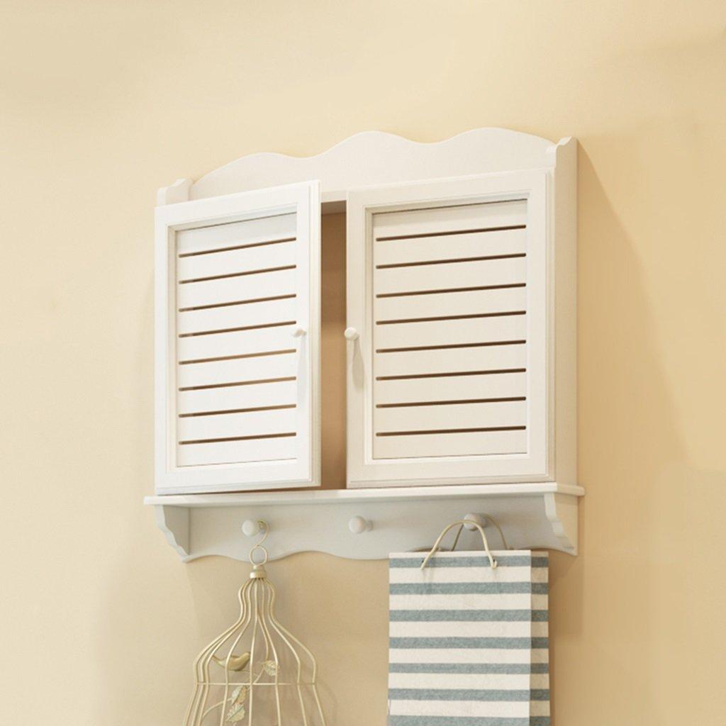 GJM Shop 白多機能シンプルでモダンな電気ボックス装飾ボックスウッディーヨーロピアンパストラルメーターボックスカバーボックス壁掛けコートラック 47*32*5.5cm  B07GKP8VBX
