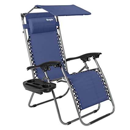 Amazing Bonnlo Zero Gravity Chair With Canopy Patio Sunshade Lounge Chair Adjustable Folding Shade Reclining Chairs With Cup Holder And Headrest For Beach Inzonedesignstudio Interior Chair Design Inzonedesignstudiocom