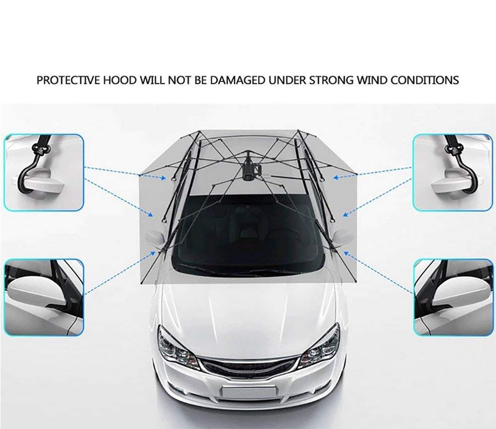 Carpa Autoportada Plegable Control Remoto Portátil Auto Protección Paraguas Refugio Car Hood,Silver: Amazon.es: Deportes y aire libre