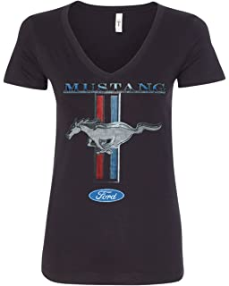 b7c1b52ab Amazon.com: JH Design Women's Ford Mustang T-Shirt's in 2 Styles a ...