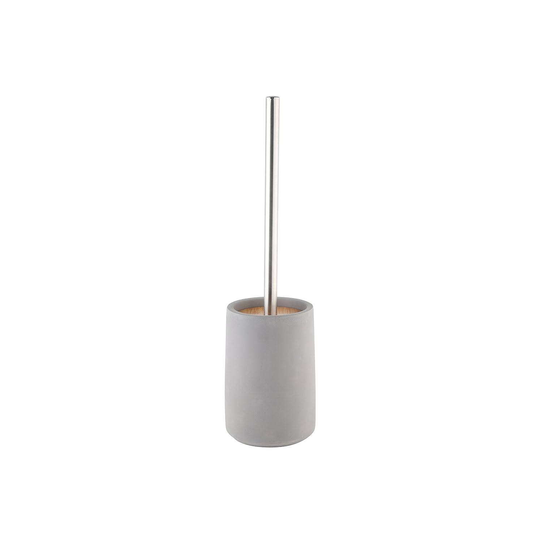Bambou 10.5/x 10.5/x 42.5/cm Gris axentia Turin Ensemble de Brosse WC et Support