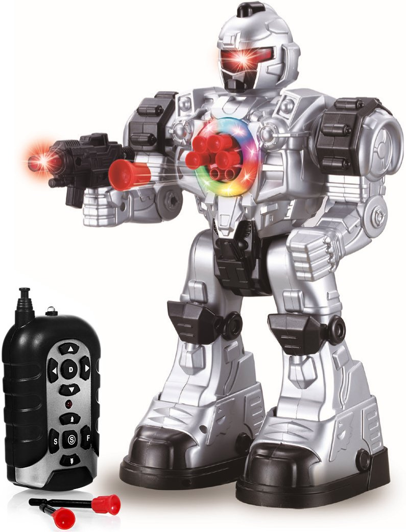 Play22 Remote Control Robot Toy - Robots for Kids Superb Fun Toy - Toy Robot Shoots Missiles Walks Talks & Dances with Flashing Lights 10 Functions - Best RC Robot Gift for Boys and Girls -Original by Play22