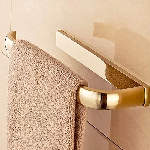 Znzbzt2017 Bath full copper gold European luxury atmosphere towel bathroom hardware attached to copper plated titanium Towel Ring