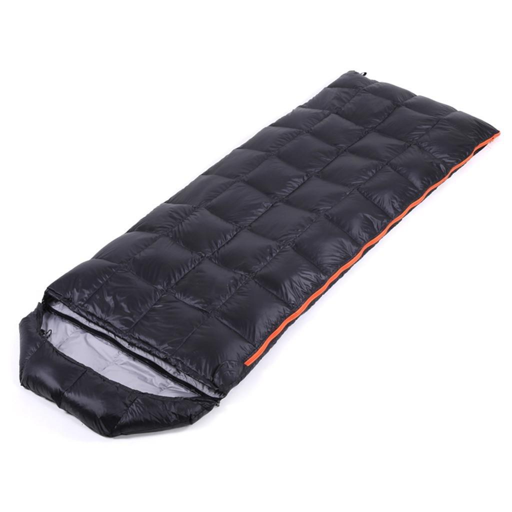 屋外の寝袋、暖かい昼食、寝袋大人の屋外封筒スーパーライトダック寝袋スプリングキャンプツール B07B2T26DR  black