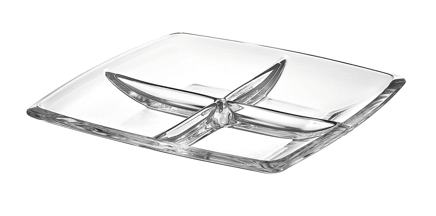 Majestic Gifts AE63236 European High Quality Glass Square Relish Dish, 11 11