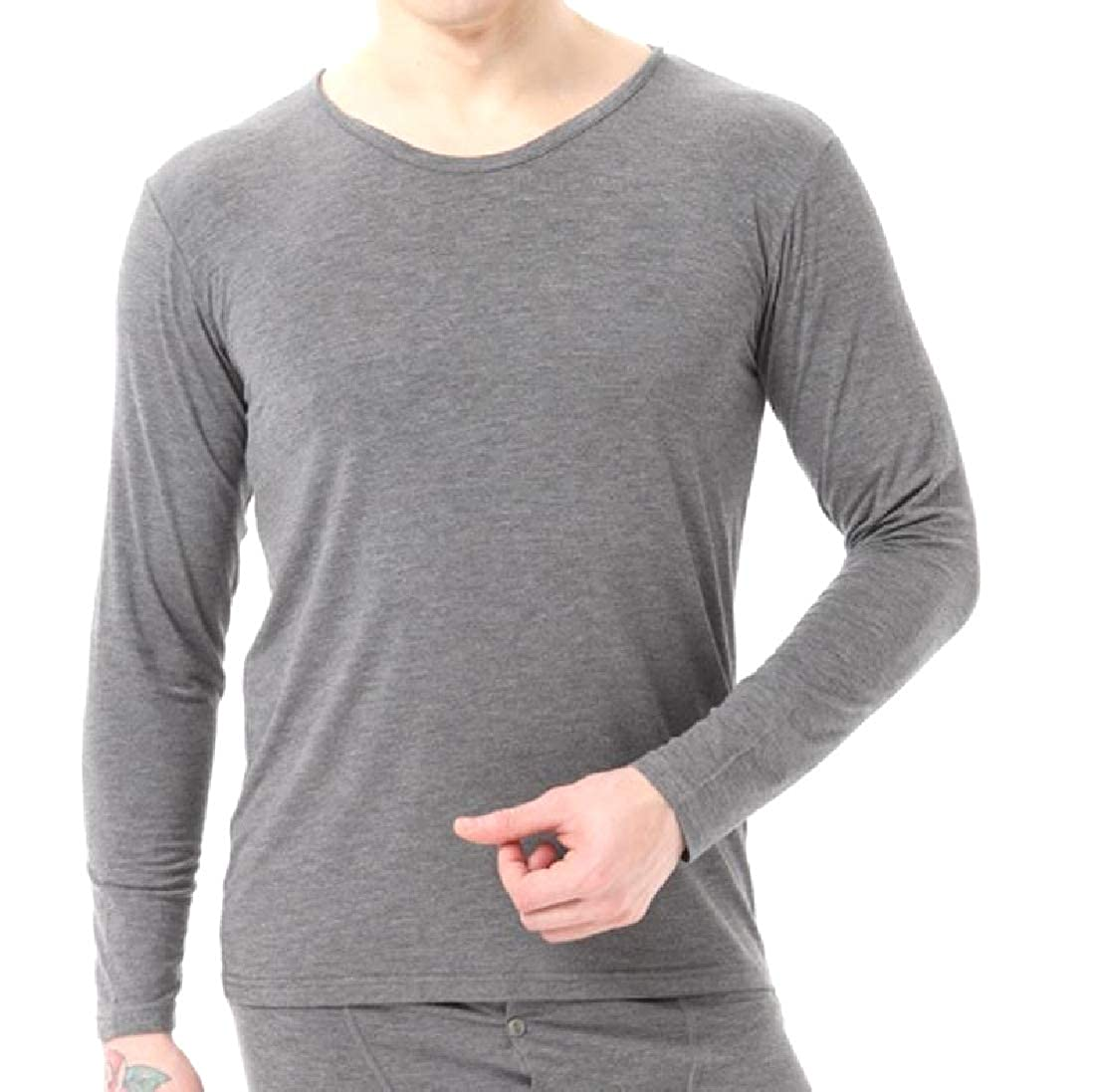 SportsX Mens Long-Sleeve Regular Fit Comfort Soft HeatGear Pullover