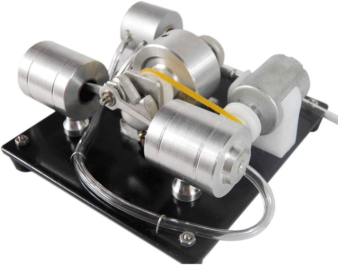 Xshion Kit de montaje de modelo de motor de vapor, kit de experimento de ciencia de modelo de motor de vapor con generador eléctrico