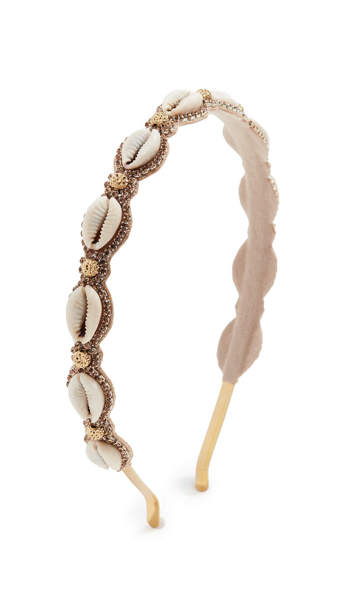 Deepa Gurnani Women's Deepa by Deepa Gurnani Shelley Headband, Ivory, Gold, Off White, One Size