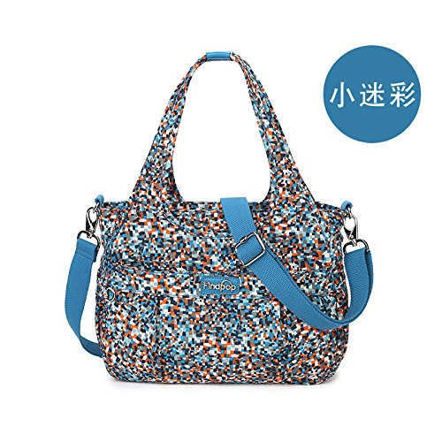 Zazero The Stamp Shell - Bolso de Mano para Mujer (Nailon), Triangulation Monkey Small camouflage