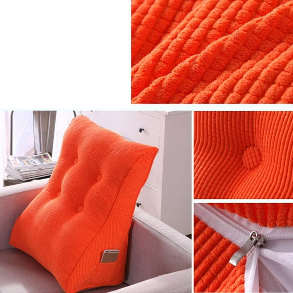 Upholstered Triangular Wedge Cushion Triangle Wedge Pad Sofa Bed Pillow Cushion Bed Head Pillow Reading Pillow Back Position Support Pillow Washable Suitable for Sofa Loungers