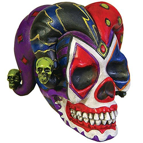 PTC Court Jester Clown Skull Skeleton Head Home Decoration Figure...]()
