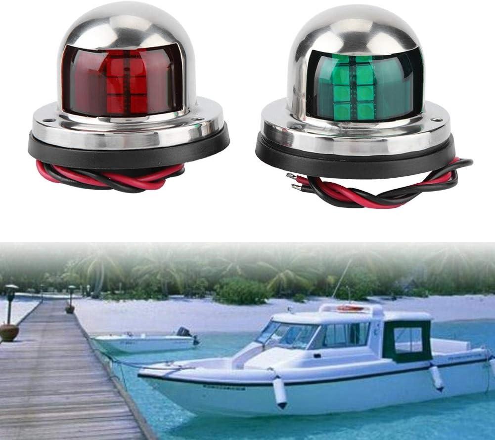 1 par LED rojo y verde L/ámpara de se/ñalizaci/ón de luz de navegaci/ón Luz lateral roja y verde para accesorios de yates de barcos marinos Luz de se/ñal de navegaci/ón
