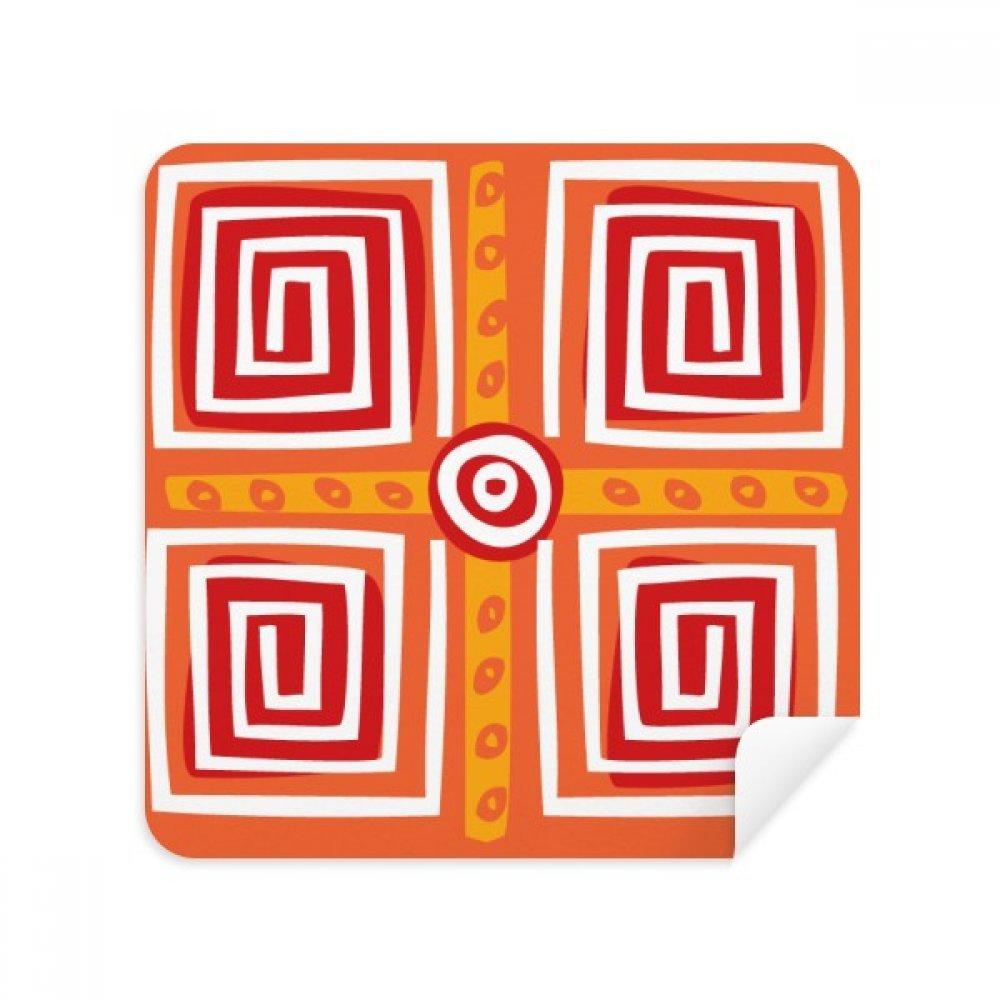 スパイラルボックスメキシコTotems Ancient Civilizationメガネクリーニングクロス電話画面クリーナースエードファブリック2pcs   B07CCMDM65