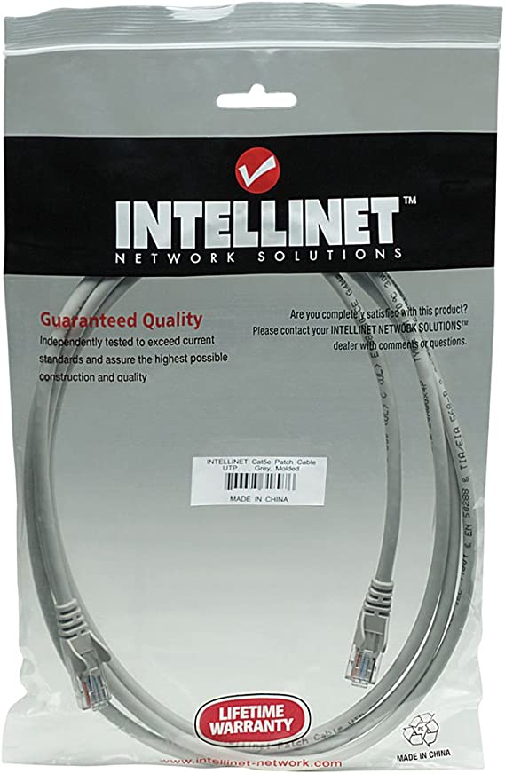 Intellinet Network Solutions 319768 CAT-5E UTP Patch Cable 10ft New
