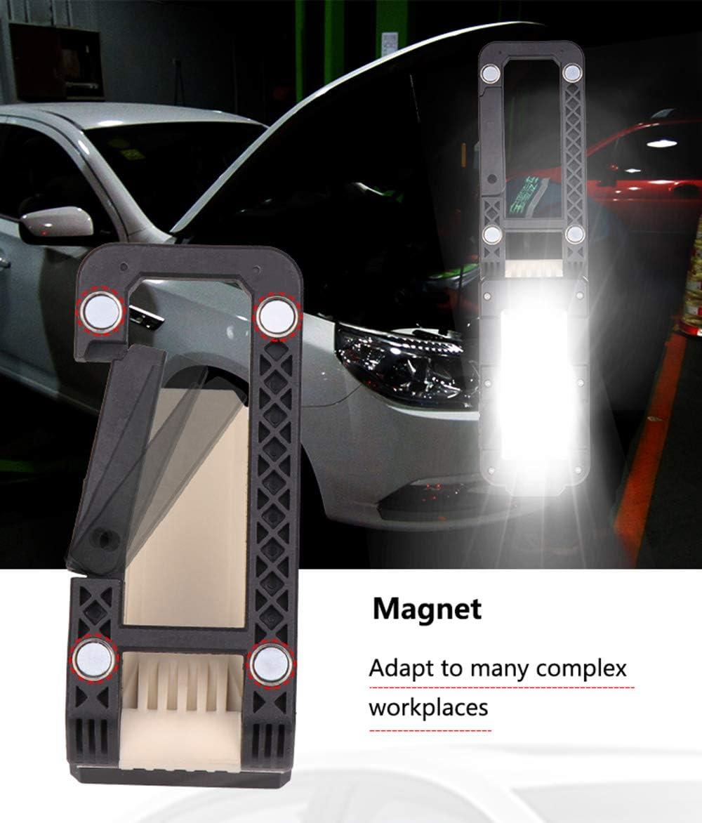 durgence magn/étique magn/étique 2 modes 4 modes pour camping en plein air Lampe pliante rechargeable USB Lampe de travail /à LED SUNWAN r/éparation de garage voiture de p/êche